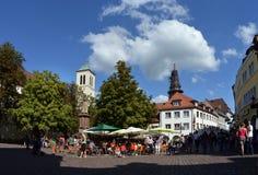 Freiburg Rathausplatz Arkivbild