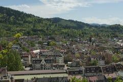 Freiburg Tyskland - Schlossberg Arkivfoto