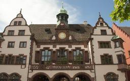 Freiburg Tyskland - stadshus Arkivfoton