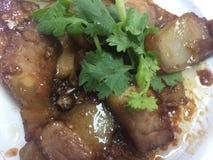 Freid猪肉cusine在泰国 免版税图库摄影