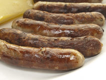 Freid sausages royalty free stock photos