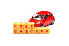 Freie Autoüberprüfung Stockfoto