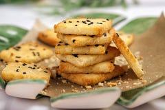 Freie Cracker des kohlenhydratarmen Glutens stockfoto