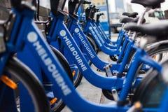 Freie Fahrräder um Melboune Stockfotografie