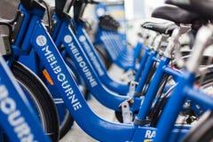 Freie Fahrräder um Melboune Stockbild