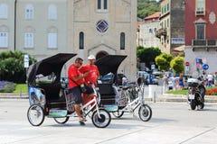 Freie Fahrradtaxis Stockfoto