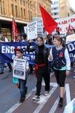 Freie Flüchtlings-Kampagne in Sydney stockfotografie