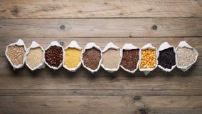 Freie Getreide und Samen des Glutens Lizenzfreie Stockfotos