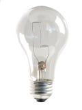 Freie Glühlampe auf Weiß lizenzfreie stockfotos