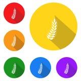 Freie Ikone des Glutens, Zeichen, beste Illustration 3D Stockbild