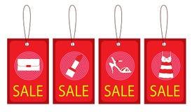 Freie Marke mit rotem Farbband Lizenzfreies Stockbild