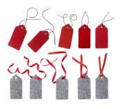 Freie Marke mit rotem Farbband Lizenzfreie Stockfotografie