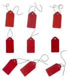 Freie Marke mit rotem Farbband Aufkleber vom Rotfilz Stockfoto