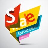 Freie Marke mit rotem Farbband Vektor-Geschäftspapier-bunter Aufkleber Lizenzfreies Stockbild