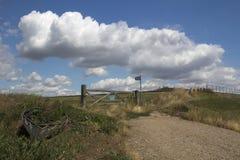 Freie o caminho no Canvey Island, Essex, Inglaterra Foto de Stock