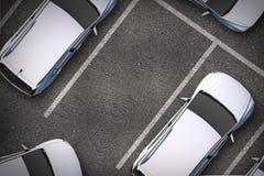 Freie Parklücke Stockfoto