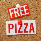 Freie Pizza! Stockfotografie