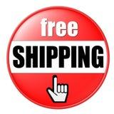 Freie Verschiffen-Taste Lizenzfreies Stockfoto