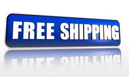 Freie Verschiffenblaufahne Lizenzfreie Stockfotos