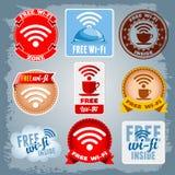 Freie Wi-Fiikonen eingestellt Lizenzfreie Stockbilder