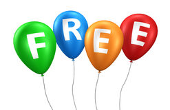 Freie Zeichen-Ballone Lizenzfreie Stockbilder