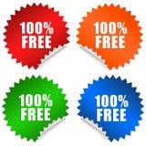 freier Aufkleber 100 Lizenzfreies Stockbild