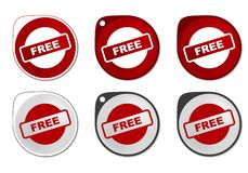 Freier Aufkleber Lizenzfreie Stockfotos