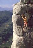 Freier Bergsteiger Stockbild