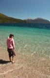 Freier blauer See stockfotos