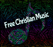 Freier Christian Music Indicates Sound Track und Audio Lizenzfreie Stockfotografie