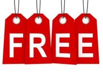 Freier Konzept-Text auf roten Preisen Stockbilder