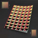 Freier Raum des Geschäfts A4 abstrakte Vektorillustration Stockfotos