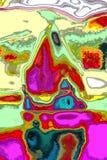 Freier Raum färbt Zusammensetzung von grünem und magentarotem Blauem und von weiß stock abbildung