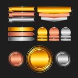 Freier Raum stempelt - Gold, Platin, Silber Lizenzfreies Stockfoto
