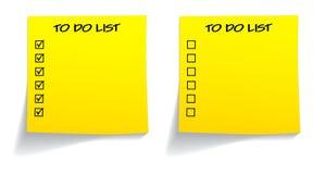 Löschen Sie getickt unticked, um Liste zu tun Lizenzfreie Stockfotos