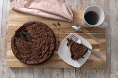 Freier Schokoladenkuchen des Glutens stockfotos