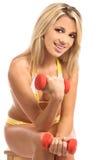 Freies Gewicht blond Lizenzfreie Stockfotos