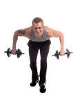 Freies Gewicht-Training Lizenzfreies Stockbild