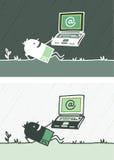Freies Internet farbige Karikatur Lizenzfreie Stockbilder