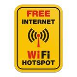 Freies Internet wifi Krisenherdzeichen Stockfoto