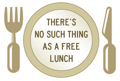 Freies Mittagessen stock abbildung