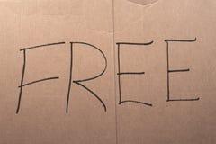 Freies Pappzeichen Lizenzfreie Stockfotos
