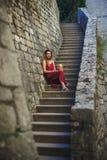 Freies schönes Modell in der Reise Reise nach Montenegro Lizenzfreie Stockfotografie