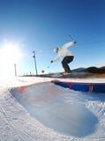 Freies skiier Stockfoto