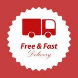 Freies und schnelles Lieferungslogo Lizenzfreies Stockbild