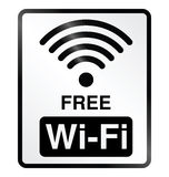 Freies WiFi-Hinweiszeichen Stockbild