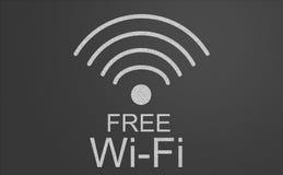 Freies Wifi-Zeichen Stockfoto
