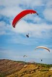 Freifluggleitschirmfliegen Lizenzfreies Stockfoto