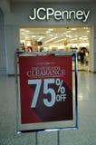 FREIGABE 50- 70% WEG AN JCPENNEY Lizenzfreies Stockfoto