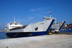 Freight boat, Halki Royalty Free Stock Photos